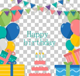 Birthday Cake Paper Party Greeting Card PNG