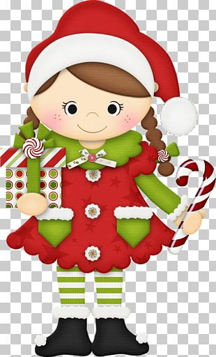 Candy Cane Santa Claus Christmas Elf PNG