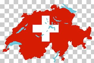 Flag Of Switzerland Map Stock Photography PNG