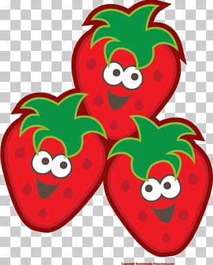 Strawberry Fruit Smiley PNG