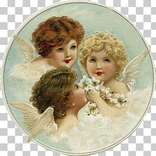 Cherub Angel Christmas Card PNG