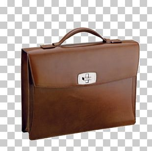 Briefcase Bag S. T. Dupont Leather Business Cards PNG