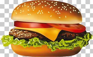 Hamburger Veggie Burger Cheeseburger Hot Dog Fast Food PNG