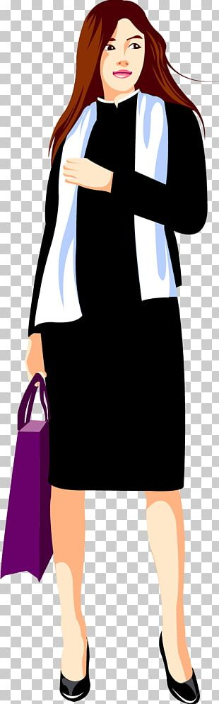 Woman Long Hair Illustration PNG