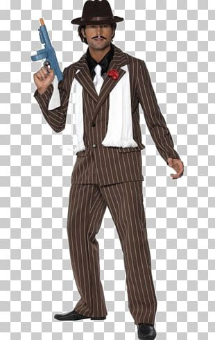 Suit Mafia Costume Necktie Hat PNG