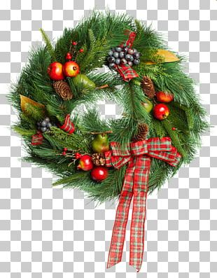 Christmas Ornament Santa Claus Wreath Christmas Decoration PNG