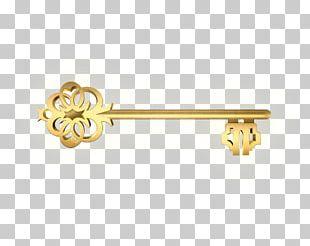 Gold Skeleton Key PNG