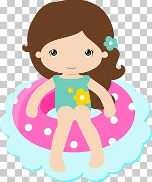Swimming Pool Party Girl PNG