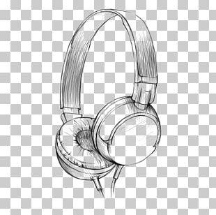 Drawing Headphones Watercolor Painting Pencil Sketch PNG