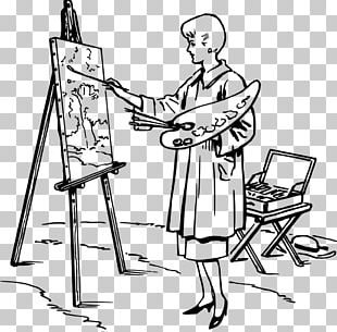 Easel Painting Drawing Board Art PNG