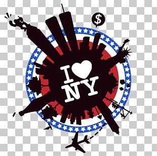 New York City I Love New York Big Apple T-shirt PNG