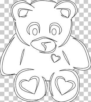 Teddy Bear Stuffed Animals & Cuddly Toys Black And White PNG