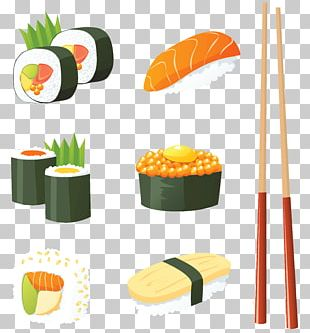 Sushi Japanese Cuisine Seafood PNG