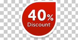 40% Discount Sticker PNG