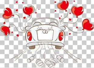 Wedding Invitation Car Illustration PNG