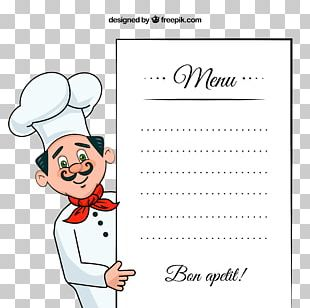 Menu Chef Take-out Restaurant PNG