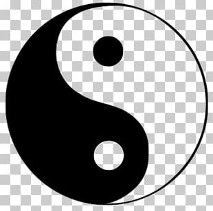 Yin And Yang Symbol Illustration Logo PNG