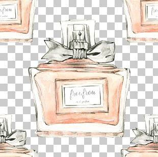 Cosmetics Perfume Watercolor Painting PNG