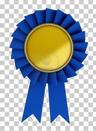 Blue Ribbon Gold Stock Photography PNG