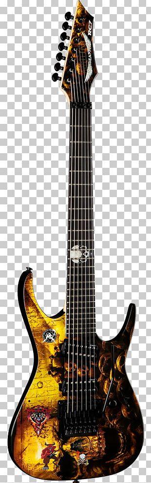 Electric Guitar Dean Guitars Ibanez Seven-string Guitar PNG