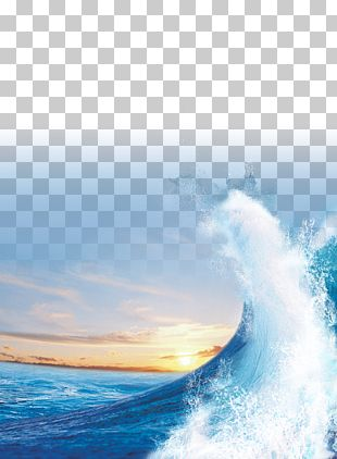 Light Sea Sunset Wind Wave PNG