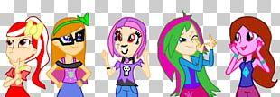 Cartoon Pink M Character Font PNG