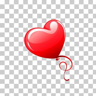Heart Valentine's Day Balloon Red PNG