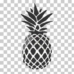 Pineapple Drawing Black And White Food PNG