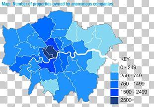 London Boroughs Mapa Polityczna Ordnance Survey PNG