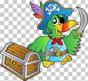 Pirate Parrot Piracy Buried Treasure PNG