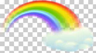 Rainbow Sky Orange Design PNG