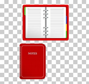 Laptop Red Notebook Notepad PNG
