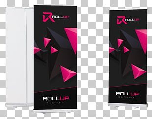 Banner Roll-up Web Banner Text Magenta PNG
