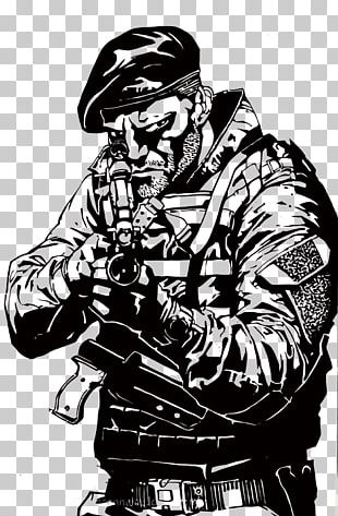 Drawing The Expendables Soldier PNG