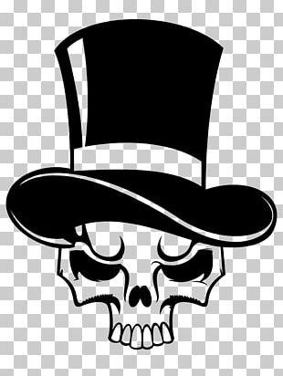 Tasmanian Devil Top Hat Skull PNG