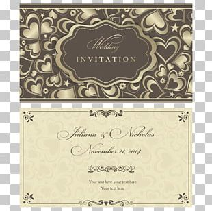 Wedding Invitation Marriage Pattern PNG
