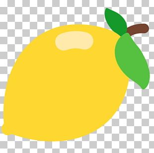 Emoji Lemon Fruit SMS Text Messaging PNG
