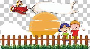 Fence Cartoon Illustration PNG