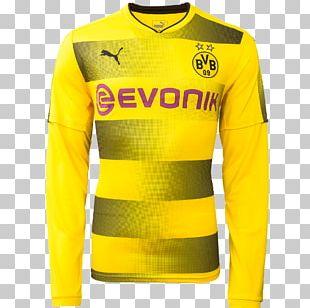 Borussia Dortmund T-shirt 2018–19 UEFA Champions League Jersey Sleeve PNG