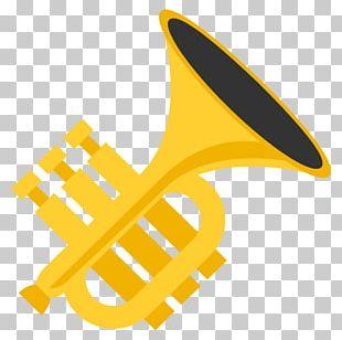 Emoji Trumpet Musical Instruments Sticker Emoticon PNG