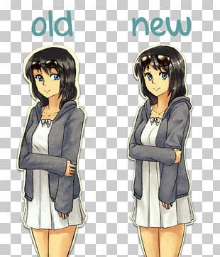 Outerwear Black Hair Mangaka Douchegordijn Brown Hair PNG