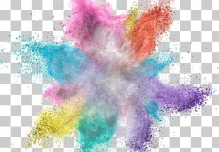 Color Dust Explosion Stock Photography PNG