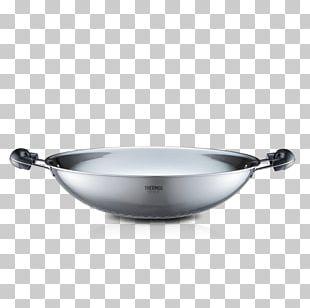 Frying Pan Wok Karahi Cookware Stainless Steel PNG