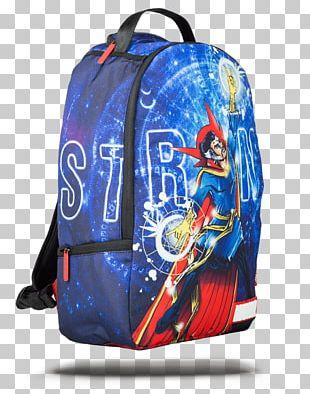 Bag Doctor Strange Backpack Blue Marvel Comics PNG