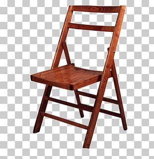 Folding Chair Garden Furniture Bamboo PNG