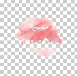 Ramadan Watercolor Painting Eid Mubarak Star And Crescent PNG