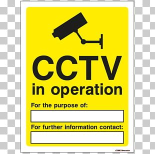 Closed-circuit Television Safety Warning Sign PNG