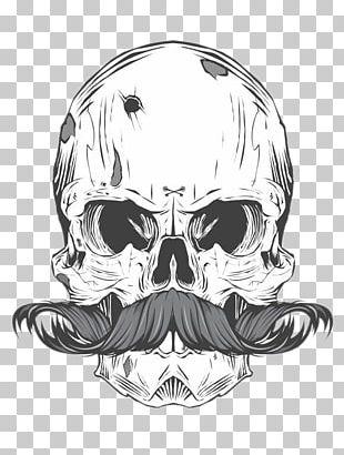 Skull Calavera Finger Moustache Tattoo Finger Moustache Tattoo PNG