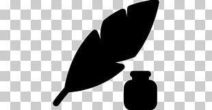 Inkwell Pen Quill Drawing PNG