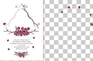 Convite Flower Marriage PNG